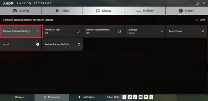 Configure AMD Radeon Switchable Graphics
