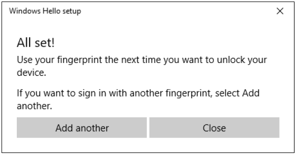 Windows 10: Use fingerprint reader to sign in