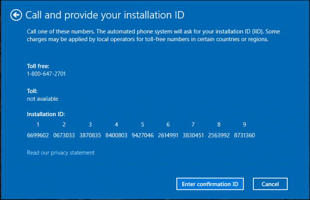 windows xp activation telephone number india