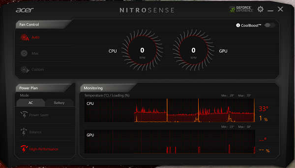NitroSense software