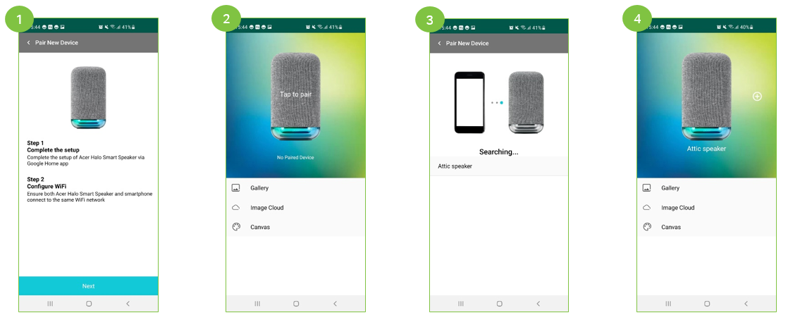 Pairing Halo App to Halo Smart Speaker