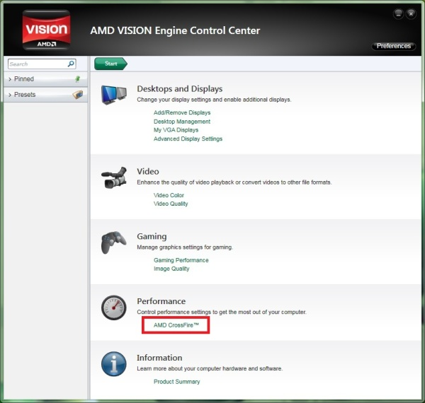 How do I enable AMD Crossfire on my Acer desktop?