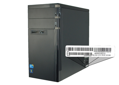 where is the serial number located on a dell computer