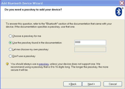 windows 7 disable bluetooth passkey
