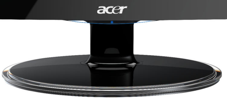 where is the power button on the s202hl s232hl s240hl and s242hl rh us answers acer com Acer S202HL Manual Replace Screen Acer Monitor S202HL