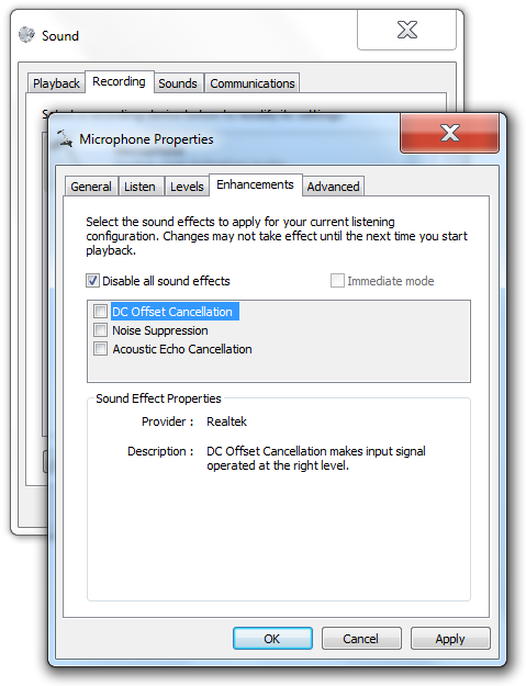 Why isn't my microphone recording sound in Windows Vista?